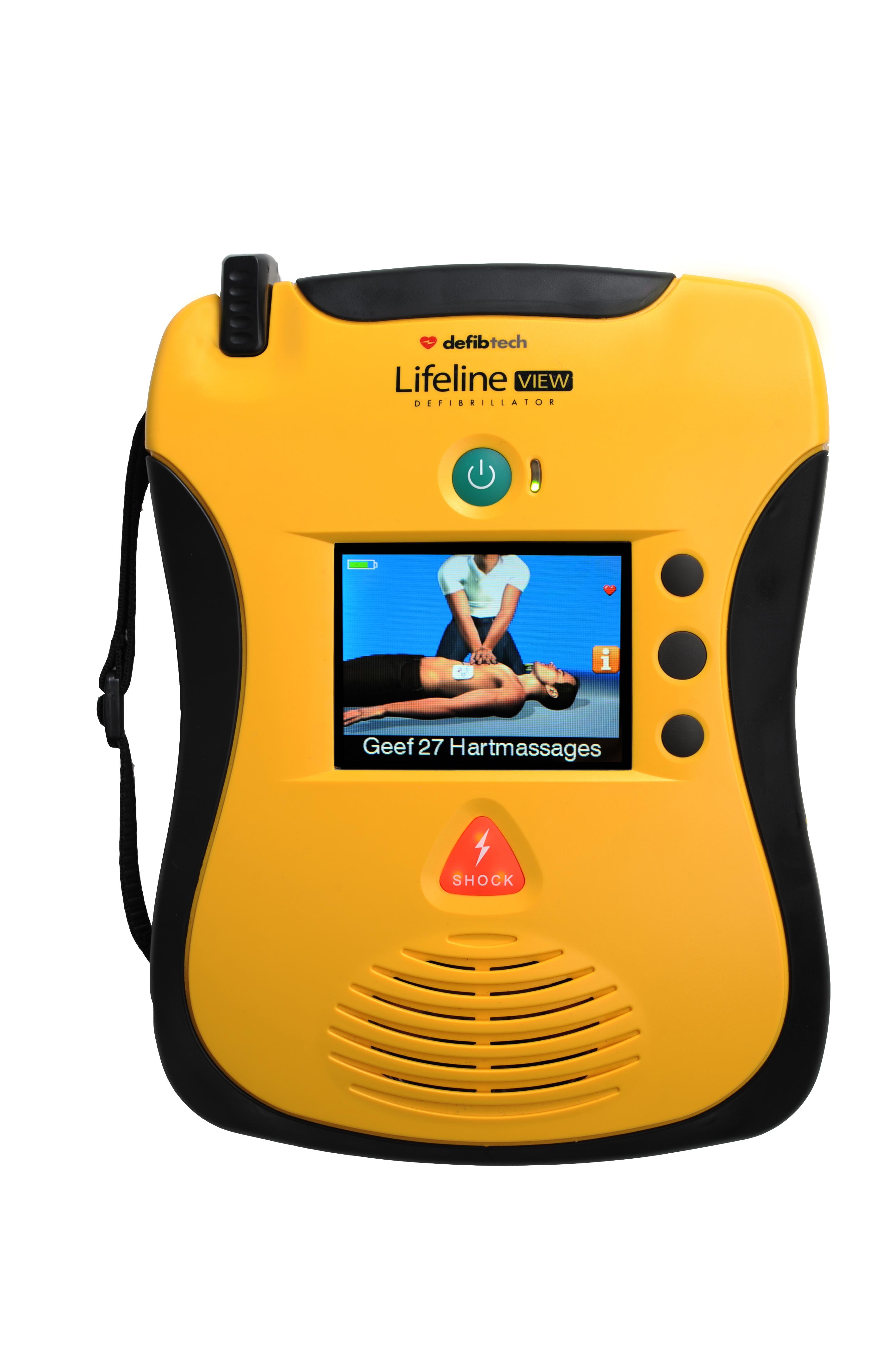 Defibrylator Lifeline VIEW z kolorowym wyświetlaczem LCD NOWOŚĆ !