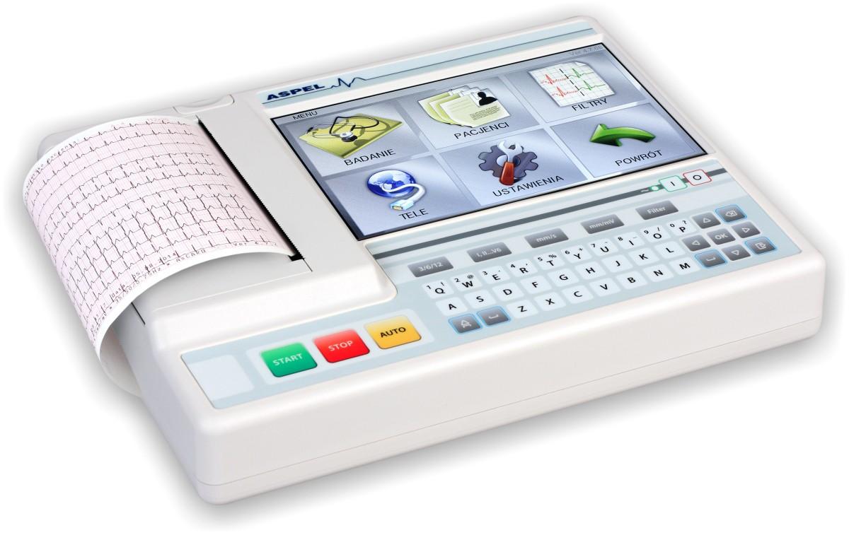 Aparat EKG AsCARD Grey v.07.304<B> Wi-Fi </b> PROMOCJA !